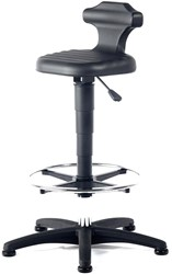 Industriestoel Bimos Flex 3 hoog model met voetenring