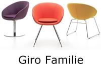 Bezoekersstoel Huislijn Giro Zwart-3