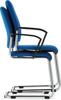 Bezoekersstoel Interstuhl Goal 550G - Lucia Zwart (5800)-3