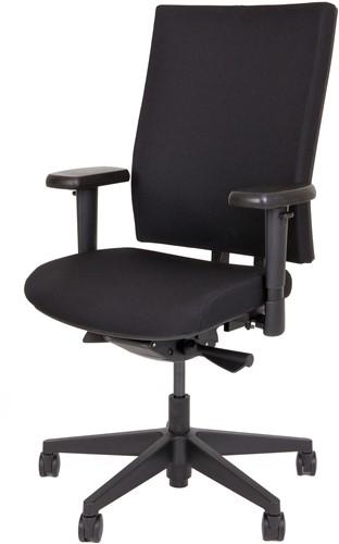 Bureaustoel met extra dikke Comfort Zitting - Oasis Zwart (9111)