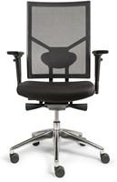 Bureaustoel Edition met Comfort Zitting zwart en Netbespanning rugleuning - Oasis Zwart (9111)-2