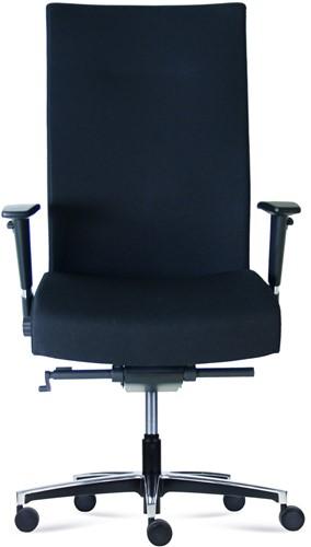 Bureaustoel Manager XXL inzetbaar tot 200 kg Leder Zwart-2
