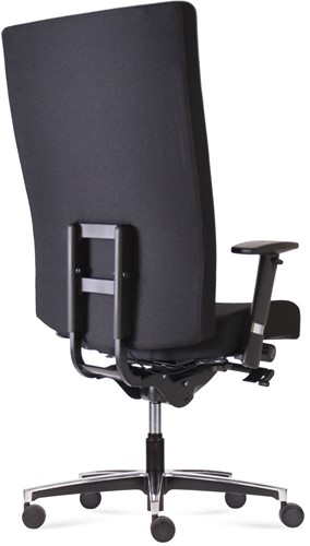 Bureaustoel Manager XXL inzetbaar tot 200 kg Leder Zwart-3