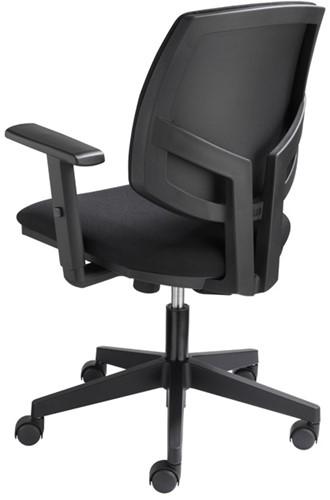 Bureaustoel Basic zitting en rug in zwarte stof-2