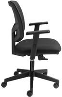 Bureaustoel Basic zitting en rug in zwarte stof-3