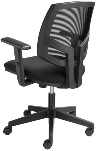 Bureaustoel Basic zitting in zwarte stof rug in netwave-2