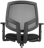 Bureaustoel Basic zitting in zwarte stof rug in netwave-3