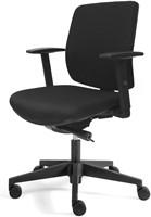 Bureaustoel Basic Plus zitting en rug in zwarte stof
