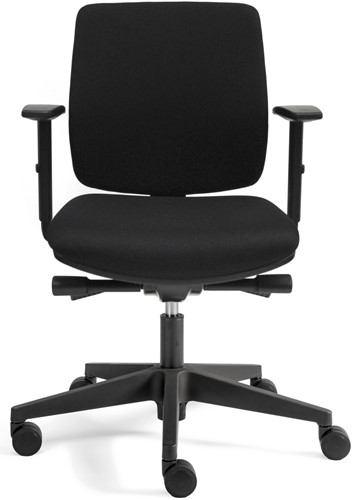 Bureaustoel Basic Plus zitting en rug in zwarte stof-2