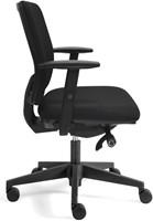 Bureaustoel Basic Plus zitting en rug in zwarte stof-3
