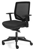 Bureaustoel Basic Plus zitting zwarte stof rugleuning netbespanning
