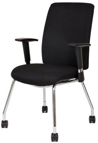 Bezoekersstoel Van Hilten Huislijn BG21 - Oasis Zwart (9111)