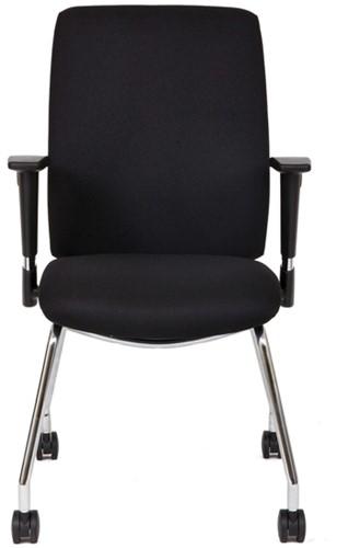Bezoekersstoel Van Hilten Huislijn BG21 - Oasis Zwart (9111)-2