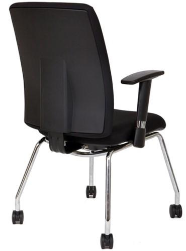 Bezoekersstoel Van Hilten Huislijn BG21 - Oasis Zwart (9111)-3