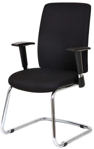 Bezoekersstoel Van Hilten Huislijn BG22 - Oasis Zwart (9111)