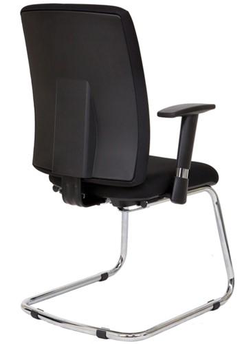 Bezoekersstoel Van Hilten Huislijn BG22 - Oasis Zwart (9111)-3