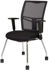Bezoekersstoel Van Hilten Huislijn BN21 - Oasis Zwart (9111)