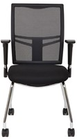 Bezoekersstoel Van Hilten Huislijn BN21 - Oasis Zwart (9111)-2