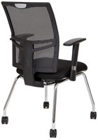 Bezoekersstoel Van Hilten Huislijn BN21 - Oasis Zwart (9111)-3