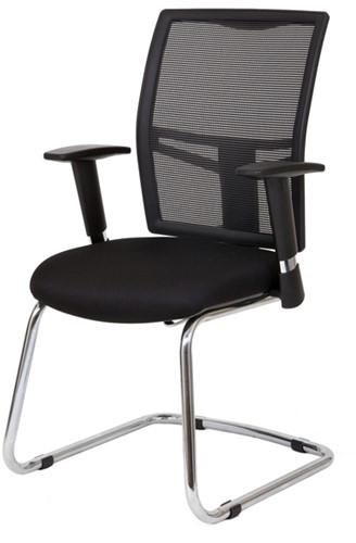 Bezoekersstoel Van Hilten Huislijn BN22 - Oasis Zwart (9111)