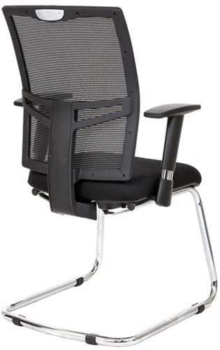 Bezoekersstoel Van Hilten Huislijn BN22 - Oasis Zwart (9111)-3
