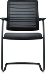 Bezoekersstoel Interstuhl Hero 570H - Era Zwart (ER01)