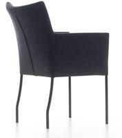 Bezoekersstoel Huislijn Hille Zwart-2