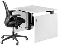 HomeFit - wit + Bureaustoel - zonder plintuitsparing