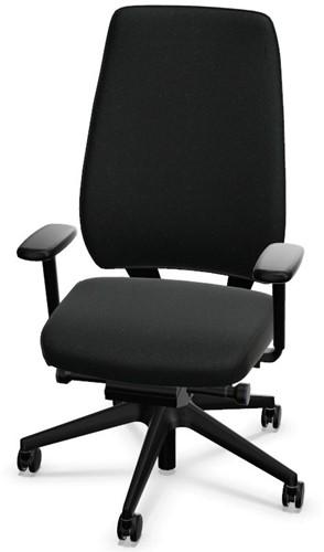 Bureaustoel Interstuhl Joyce JC112 hoge rug zwart / zwarte stof Era