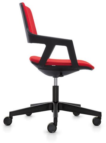 Bezoekersstoel Interstuhl Movy 16M0 - Era Zwart (ER01)-2