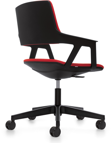 Bezoekersstoel Interstuhl Movy 16M0 - Era Zwart (ER01)-3