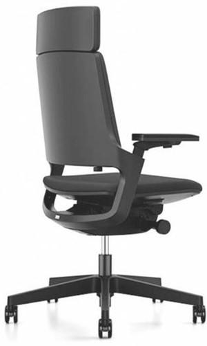 Bureaustoel Interstuhl Movy met hoge rugleuning 23M6 zwart/zwart met NPR armlegger - multifunctionele wielen-3