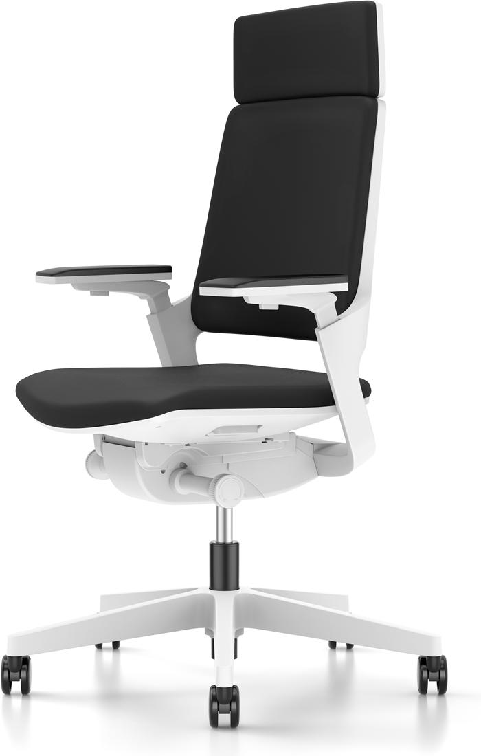 Hoge Bureau Stoel.Bureaustoel Interstuhl Movy Met Hoge Rugleuning 23m6 Wit Zwart