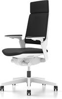 Bureaustoel Interstuhl Movy met hoge rugleuning 23M6 wit/zwart met NPR armlegger