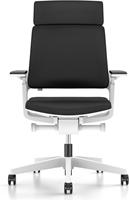 Bureaustoel Interstuhl Movy met hoge rugleuning 23M6 wit/zwart met NPR armlegger-2
