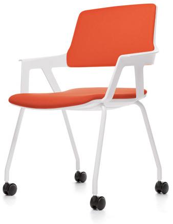 Bezoekersstoel Interstuhl Movy 46M5 - Era Zwart (ER01)