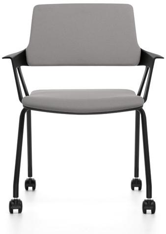 Bezoekersstoel Interstuhl Movy 46M5 - Era Zwart (ER01)-2
