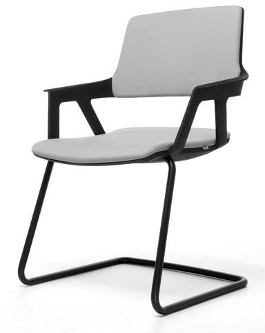 Bezoekersstoel Interstuhl Movy 56M0 - Era Zwart (ER01)