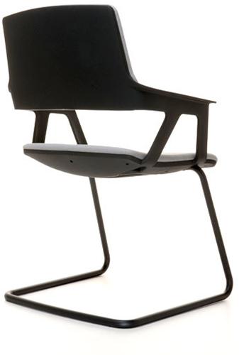 Bezoekersstoel Interstuhl Movy 56M0 - Era Zwart (ER01)-3