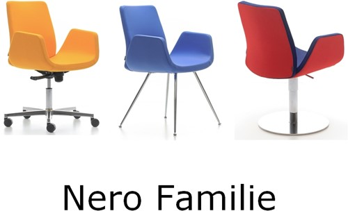 Bezoekersstoel Huislijn Nero Zwart-3