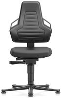 Industriestoel Bimos Nexxit 1 met glijders universeel inzetbaar - Geen Armleggers - Antraciete Handgrepen