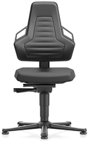 Industriestoel Bimos Nexxit 1 met glijders universeel inzetbaar - Standaard Armleggers - Antraciete Handgrepen