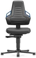 Industriestoel Bimos Nexxit 1 met glijders universeel inzetbaar - Geen Armleggers - Blauwe Handgrepen
