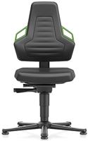 Industriestoel Bimos Nexxit 1 met glijders universeel inzetbaar - Standaard Armleggers - Groen Handgrepen