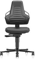 Industriestoel Bimos Nexxit 2 met wielen universeel inzetbaar - Standaard Armleggers - Antraciete Handgrepen