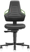 Industriestoel Bimos Nexxit 2 met wielen universeel inzetbaar - Geen Armleggers - Groen Handgrepen