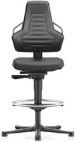 Industriestoel Bimos Nexxit 3 met glijders universeel inzetbaar - Standaard Armleggers - Antraciete Handgrepen - Rubber Zit-Stop-Wielen