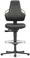 Industriestoel Bimos Nexxit 3 met glijders universeel inzetbaar - Geen Armleggers - Groen Handgrepen - Standaard Vloerglijders