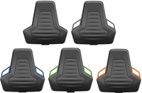 Industriestoel Bimos Nexxit 2 met wielen universeel inzetbaar - Standaard Armleggers - Blauwe Handgrepen-2