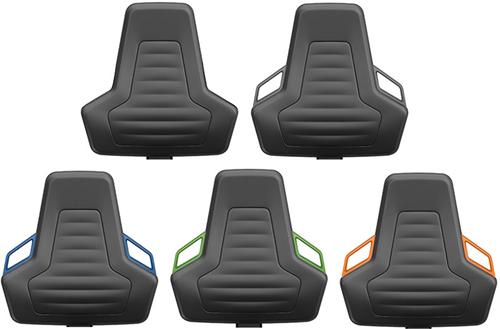 Industriestoel Bimos Nexxit 2 met wielen universeel inzetbaar - Standaard Armleggers - Oranje Handgrepen-2